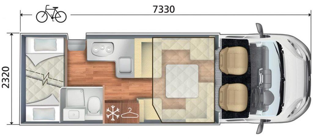 Auto Roller 707 Motorhome Layout Floorplan
