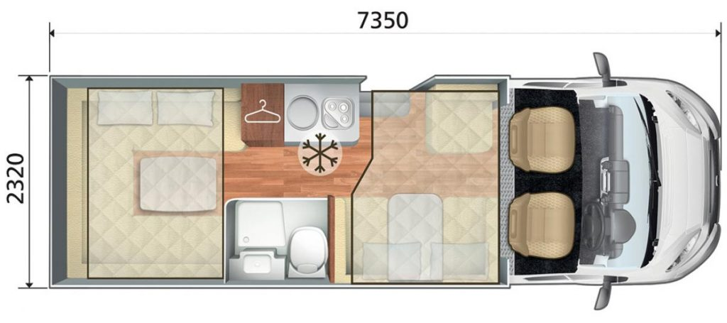Auto Roller 747 Auto Motorhome Floorplan Layout